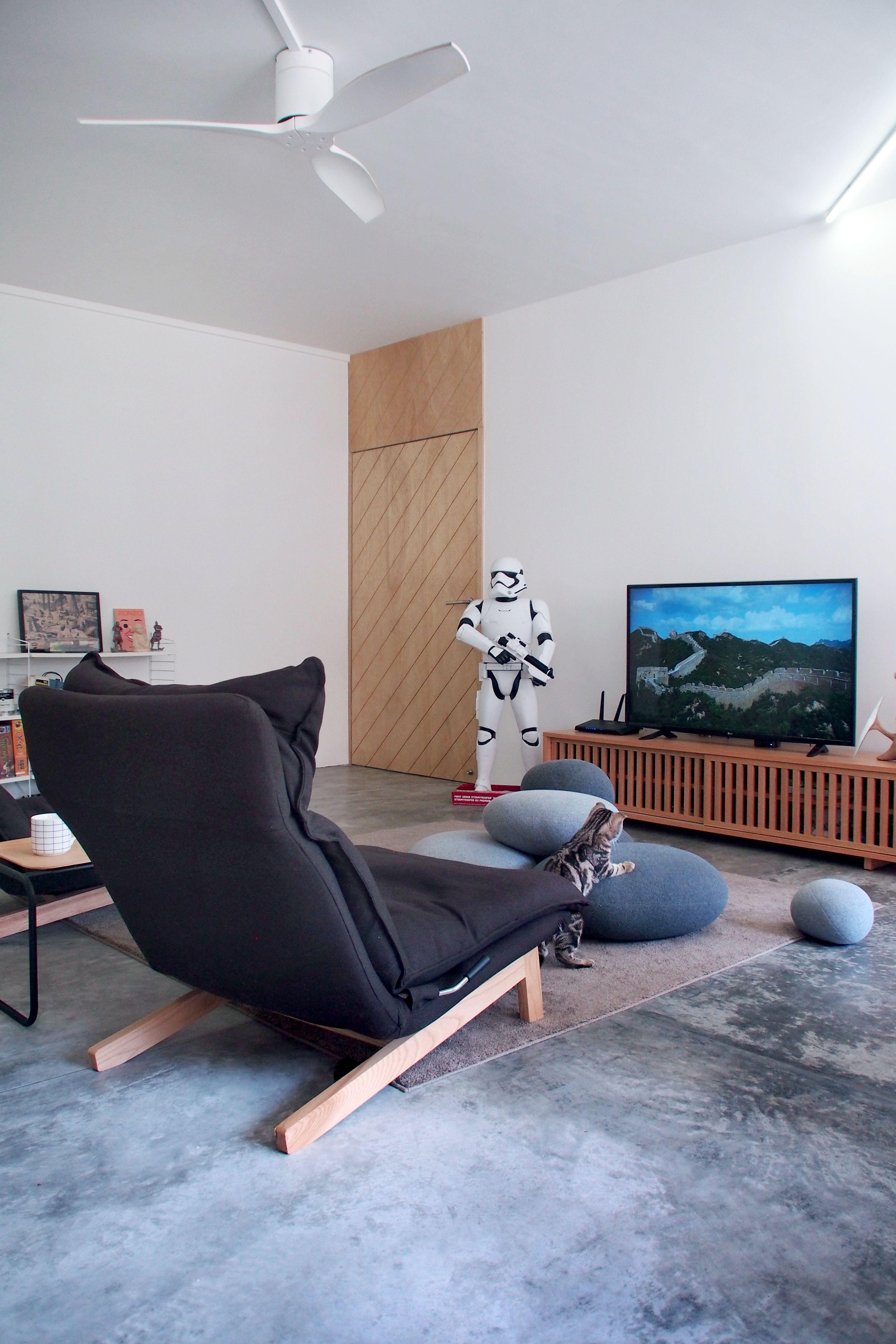 Minimal Living Room Interior by The Association HDB interior