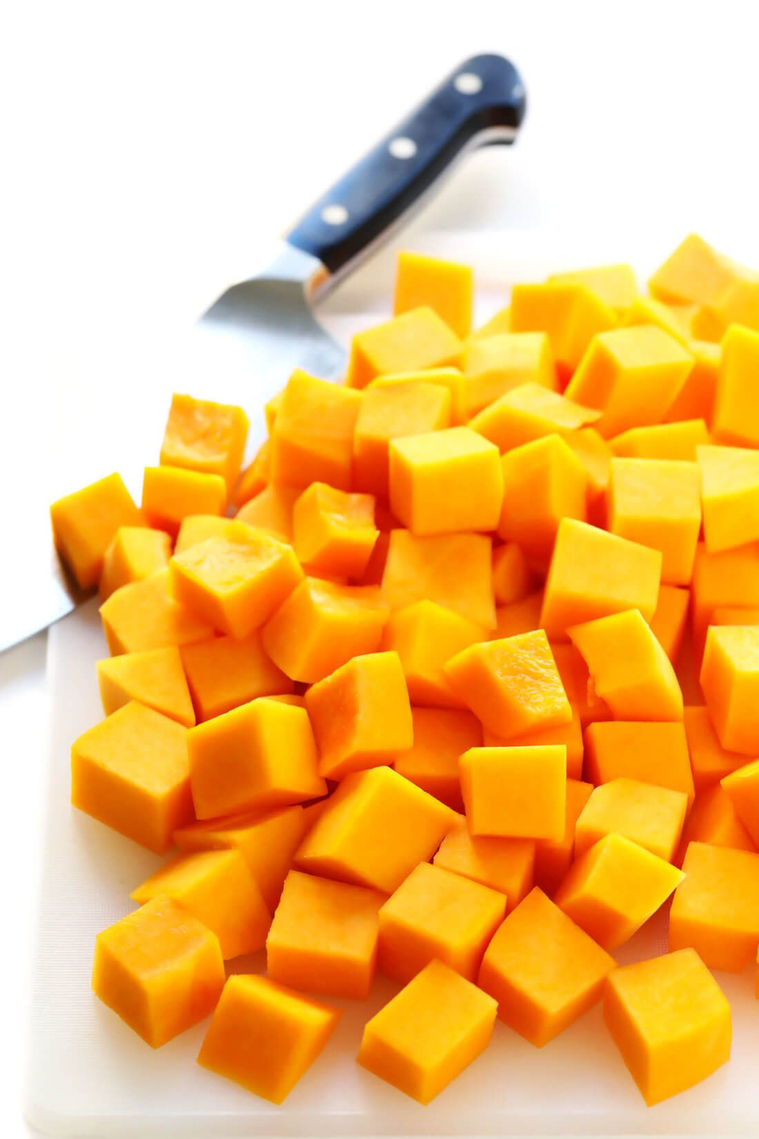 This easy roasted butternut squash recipe can be made with either diced or halved butternut squash Plus ideas for various seasonings that you are welcome to add too