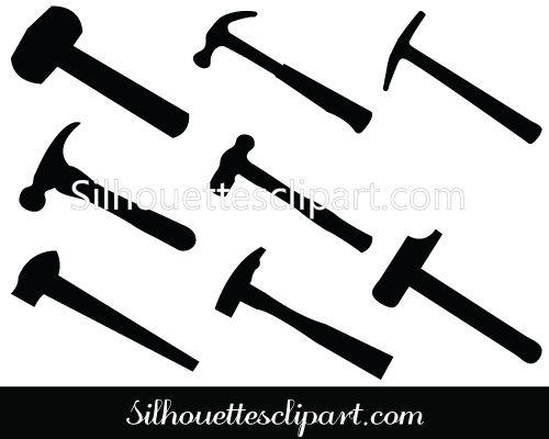 Hammer Silhouette Clip Art Pack Silhouette Clip Art Silhouette Clip Art Clip Art Silhouette Vector