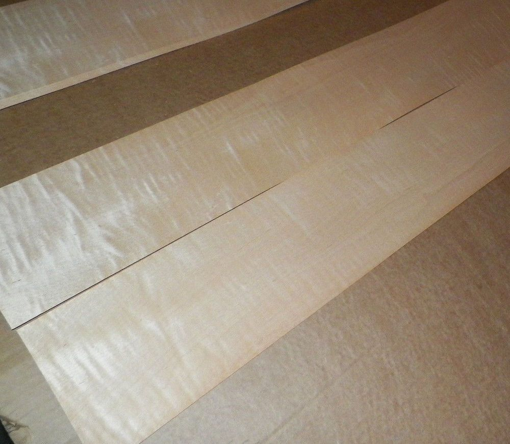 Tiger Maple Raw Wood Veneer Sheets 4 X 61 Inches 1 42nd Cm875 Wood Veneer Sheets Wood Veneer Raw Wood