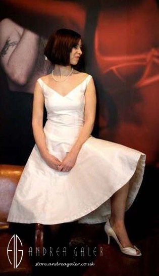 Andrea Galercouk Fashion Uk FashionFashion StoresClassy Dress1950sStylishSilkInspiredDressesWedding Dress