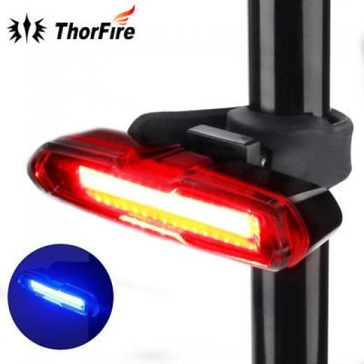 USB Super LED Bike Lamp Warning Bicycle Bright Rechargeable Tail 6 Modes Rear