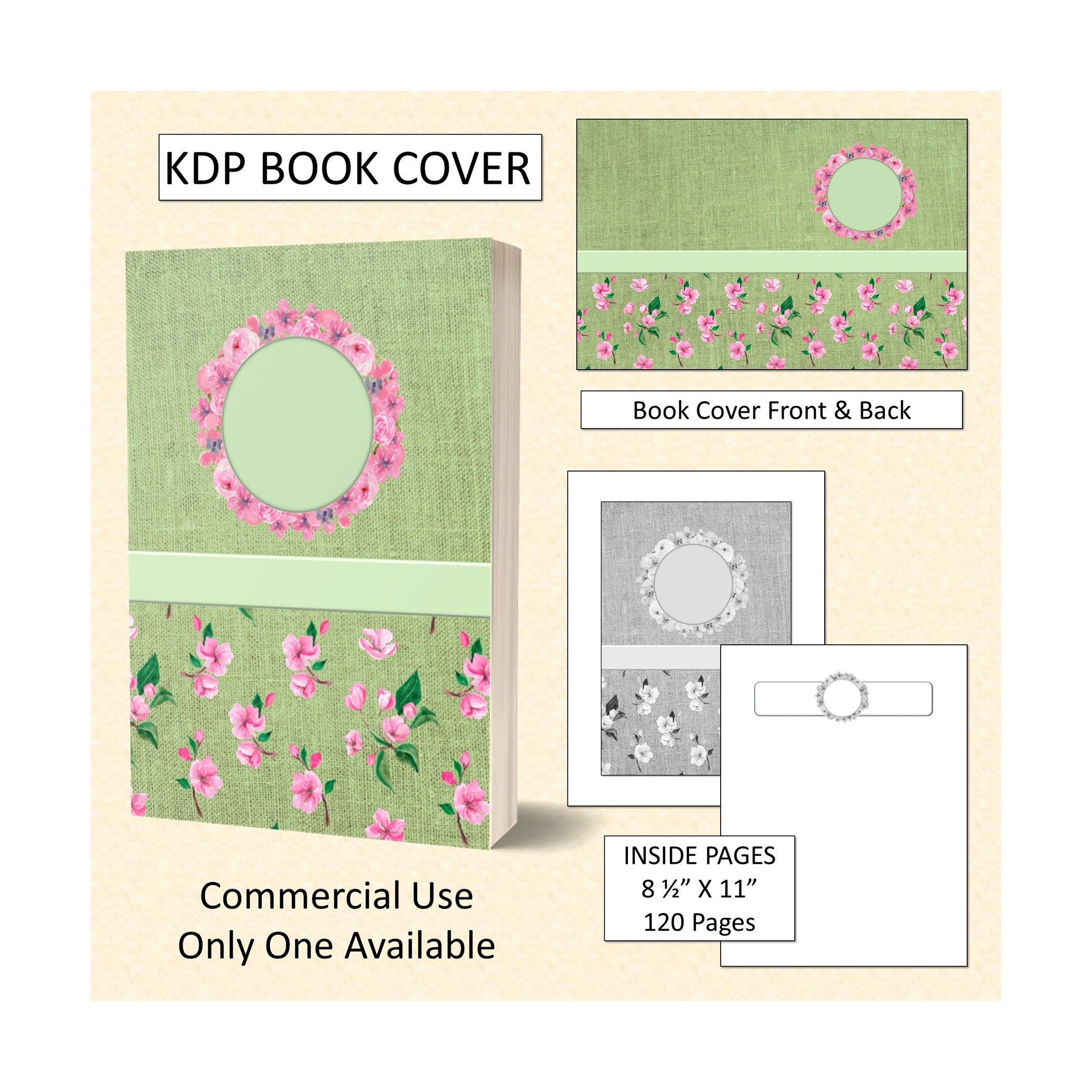Green Floral Theme Cover Design Kdp Book Cover Kindle Cover Cover Design Diary Cover Design Kindle Cover