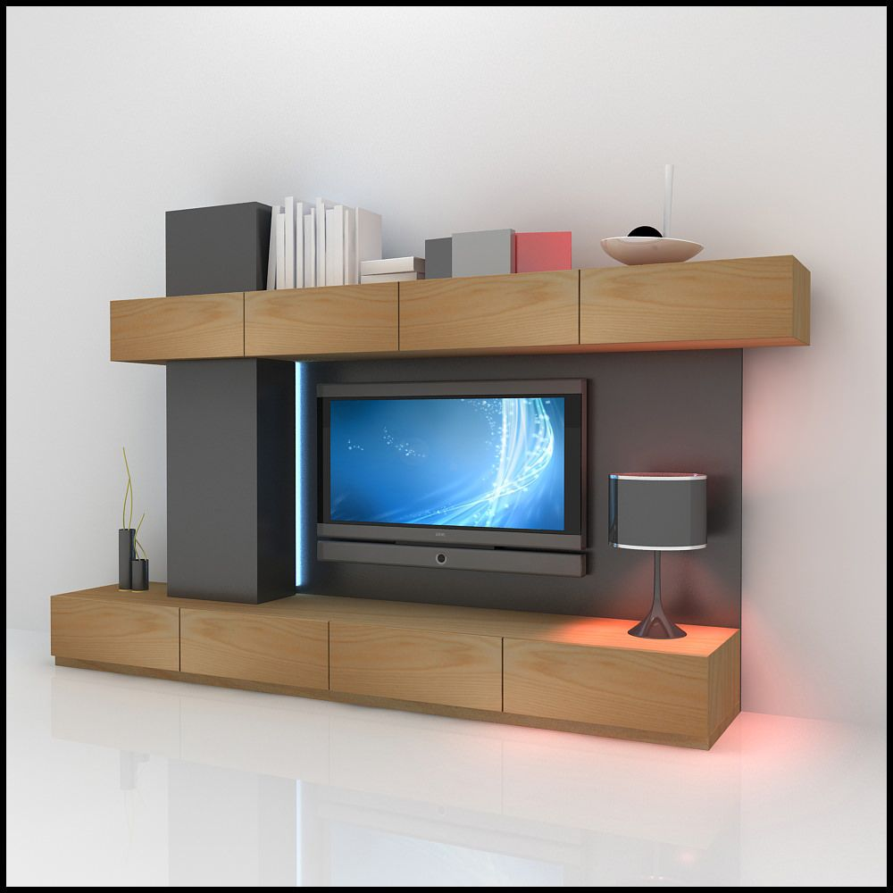 Contemporary TV Wall Design of a modern tv wall unit design