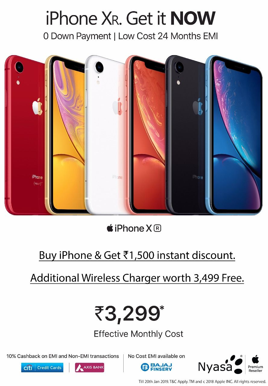 iPhone XR available at and effective monthly cost of
