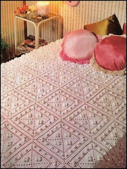 Patrones para colchas a crochet