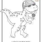 Free coloring pages - rock & roll dinosaurs #coloringpages ...