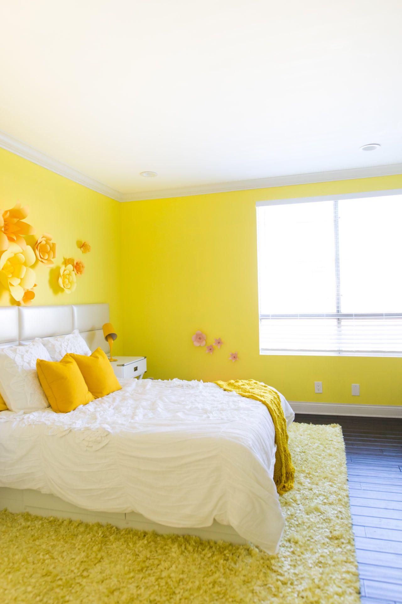 Adelaine Morin S Hello Yellow Bedroom Makeover Yellow Bedroom