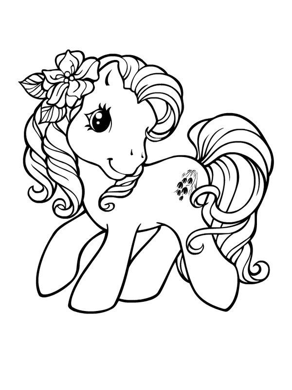 coloriage a imprimer poney