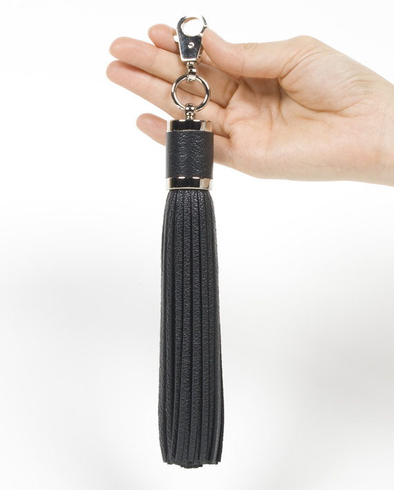 13c725c80c9f0 BIG Goat Leather Tassel Keychain key chain by SiroganeLeatherWorks