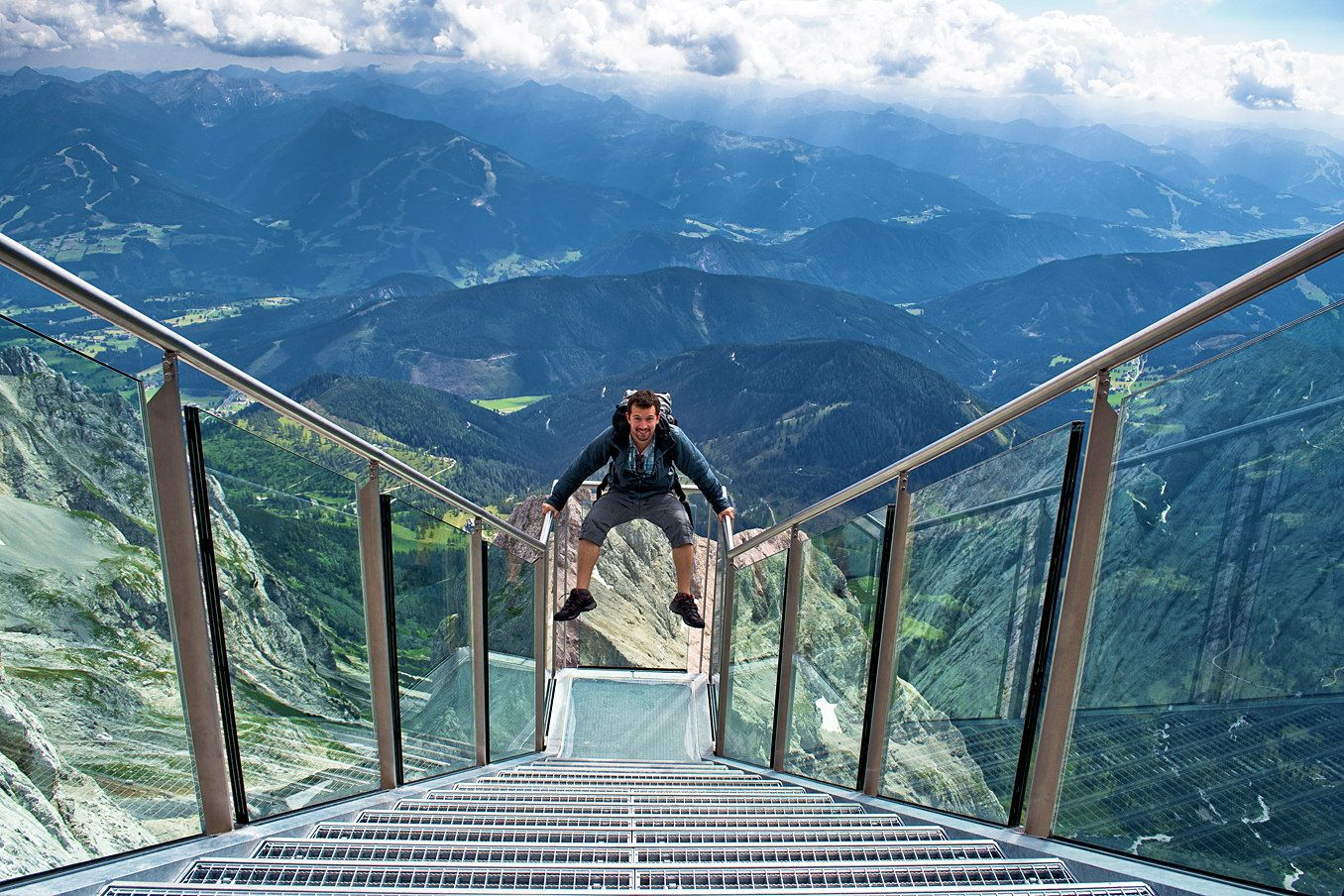 Dachstein Stairway – Austria AKA stairway to Nothingness | Scary bridges,  Natural landmarks, Adventure is out there