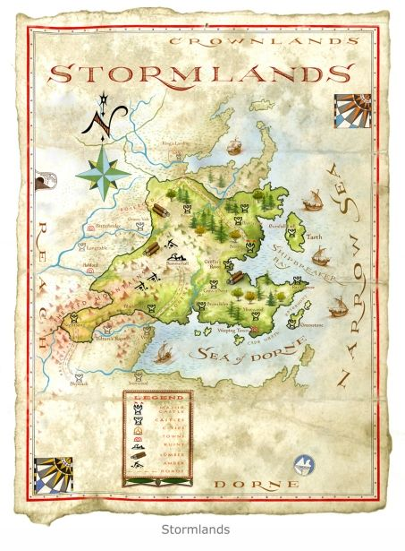 the world of ice and fire stormlands map by michael gellatly