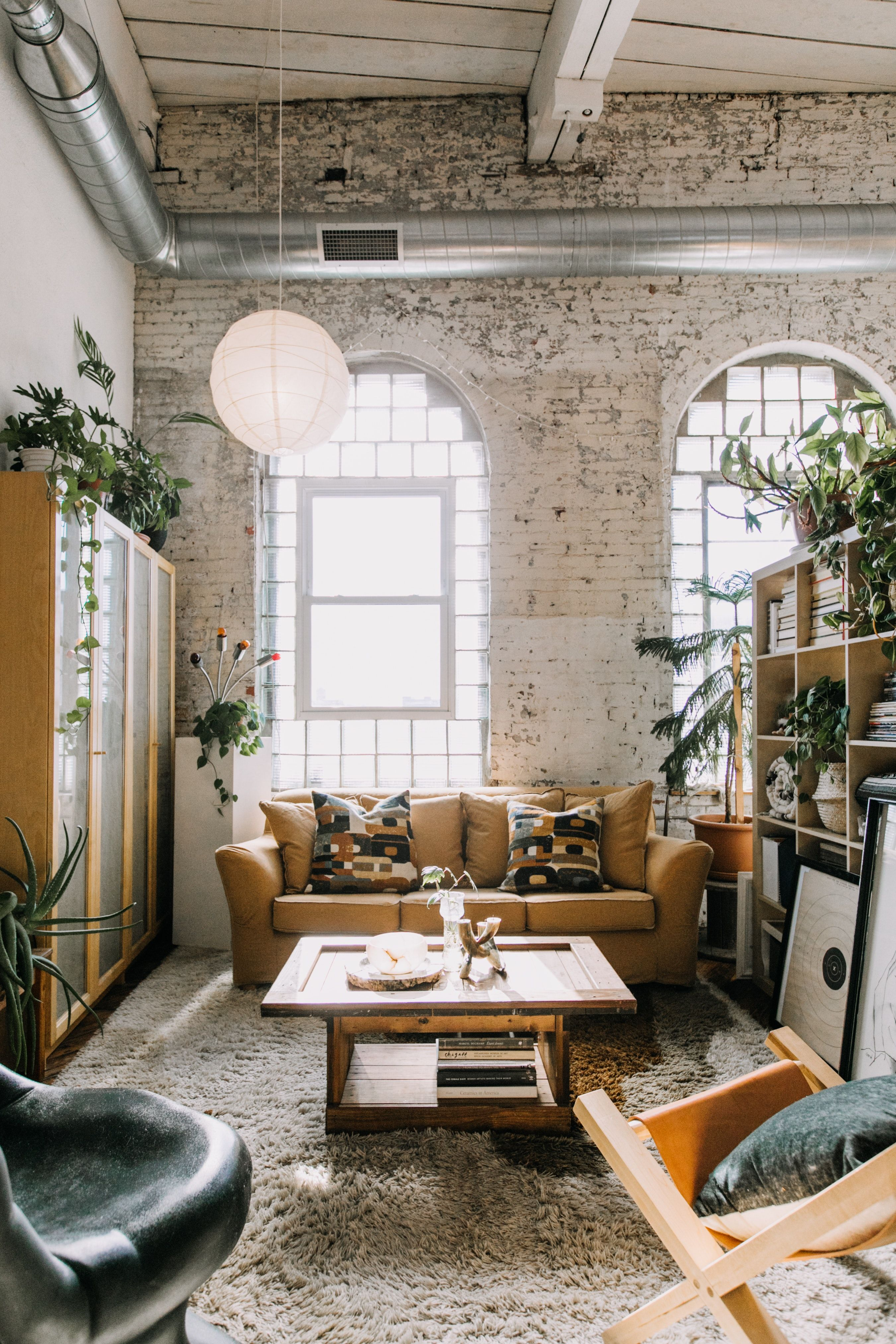 A Sunny, Stunning Loft Apartment in an Old Textile Factory