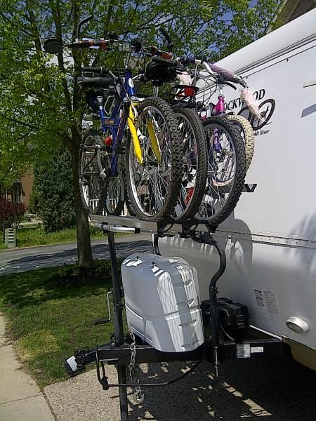 Trailer Tongue Bike Rack Google Search Camping Rv