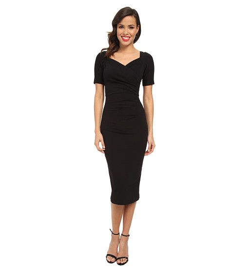 5dc880ec076f Stop Staring! 3 4 Sleeve Wrap Dress
