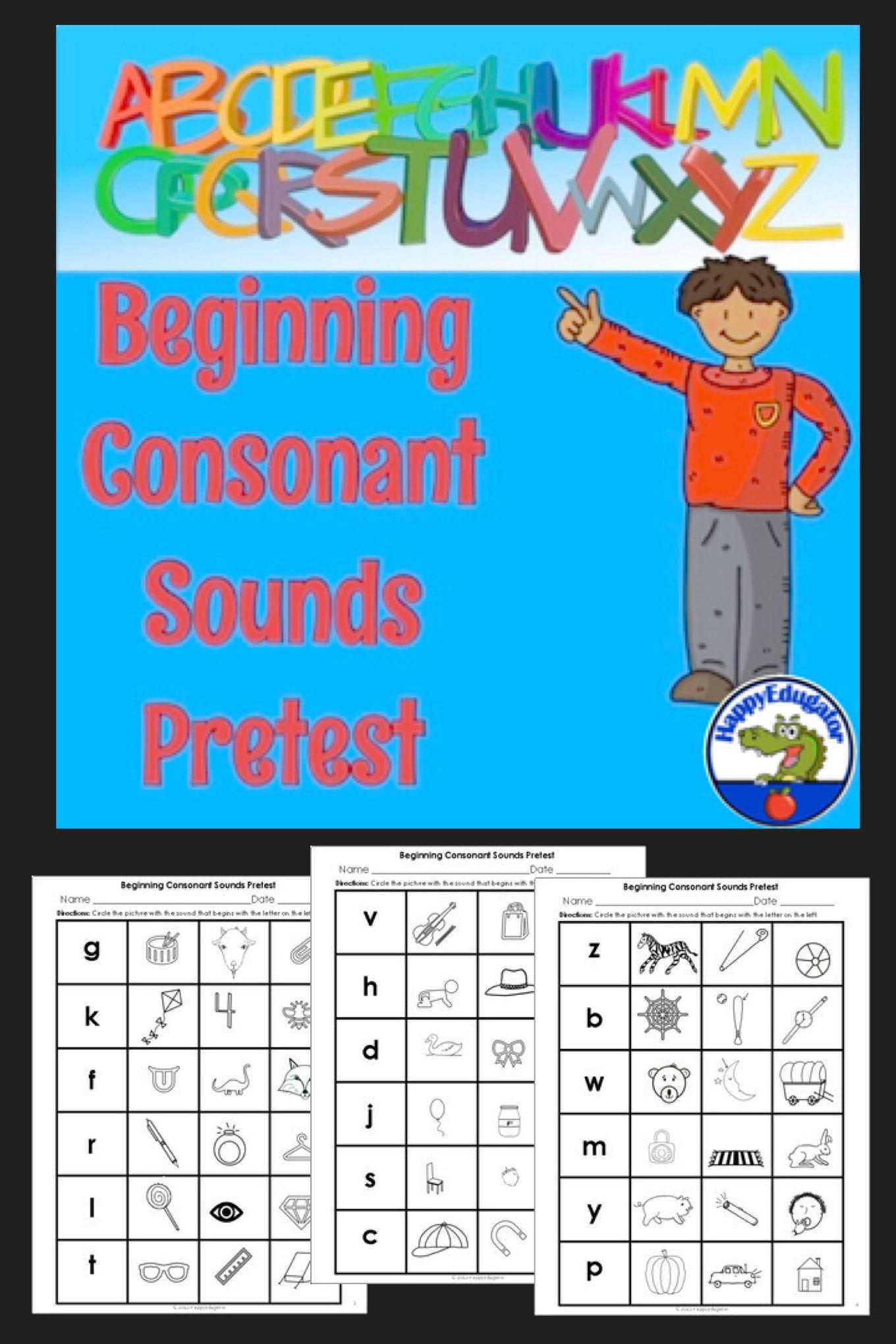 Beginning Consonant Sounds Pretest
