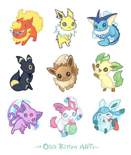Eeveelutions pokemon fusion fan eevee all cute also best images evolutions of rh pinterest