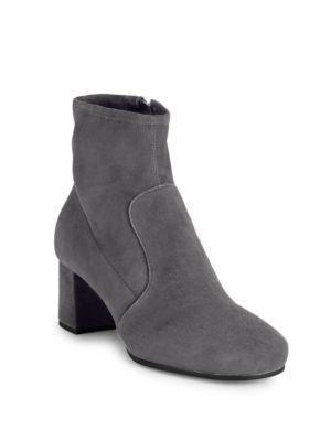 30bb893c PRADA Stretch Suede Block Heel Booties. #prada #shoes #boots   Prada ...