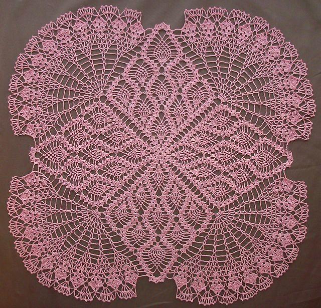 Ravelry: TV Cover Design 7339 pattern by Vintage | Fillet Crochet ...