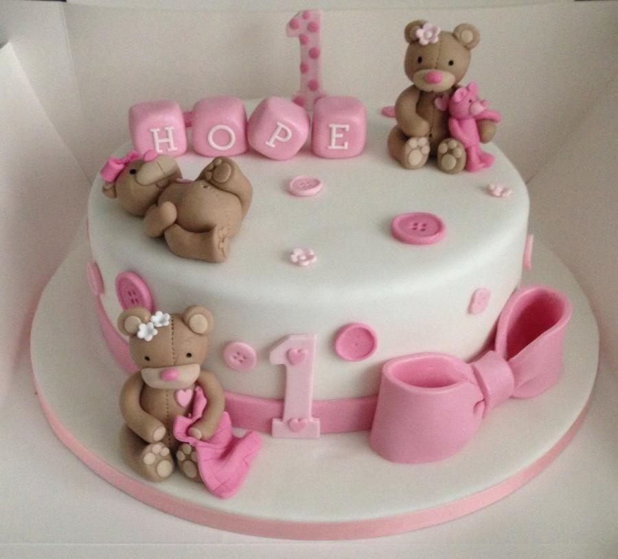 Happy 1st birthday Baby birthday cakes, Girly birthday
