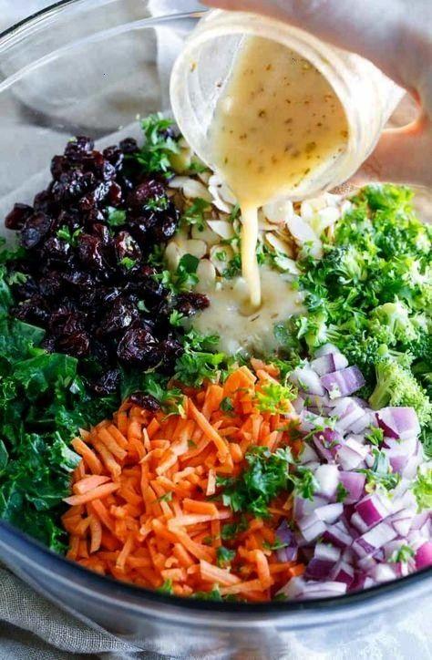 Kale Salad with Fresh Lemon Dressing - Spend With Pennies -Easy Kale Salad with Fresh Lemon Dressin