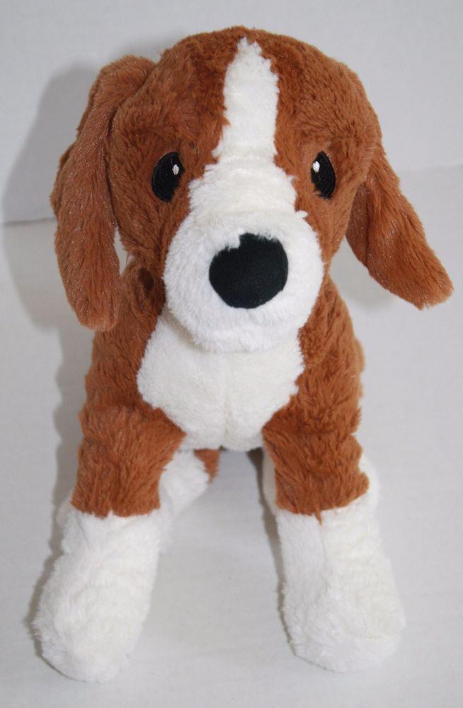 Ikea Gosig Valp Adorable Beagle Dog Tan Brown White Plush