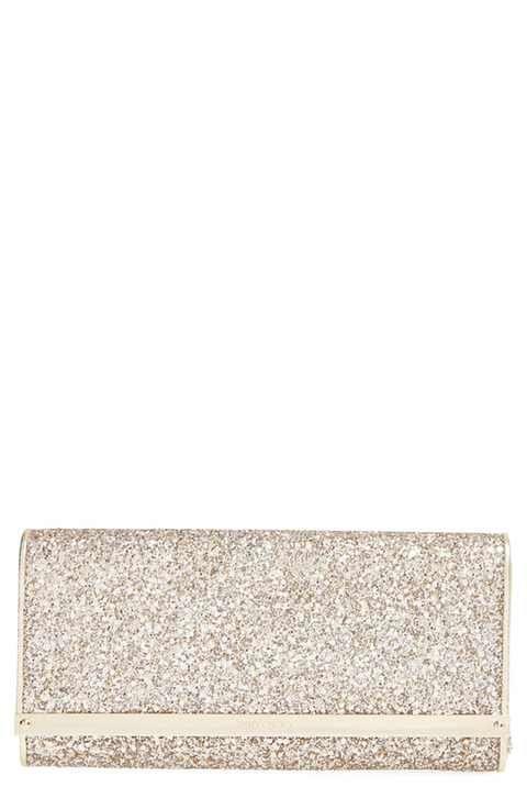 Jimmy Choo 'Milla' Glitter Clutch