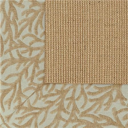 Exclusive Coral Chenille Border Sisal Rug