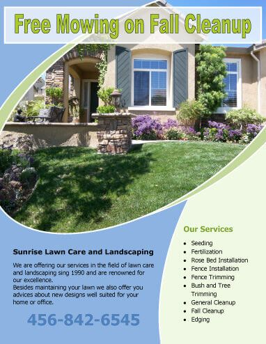 simple flyer with circle image landscaping flyer template