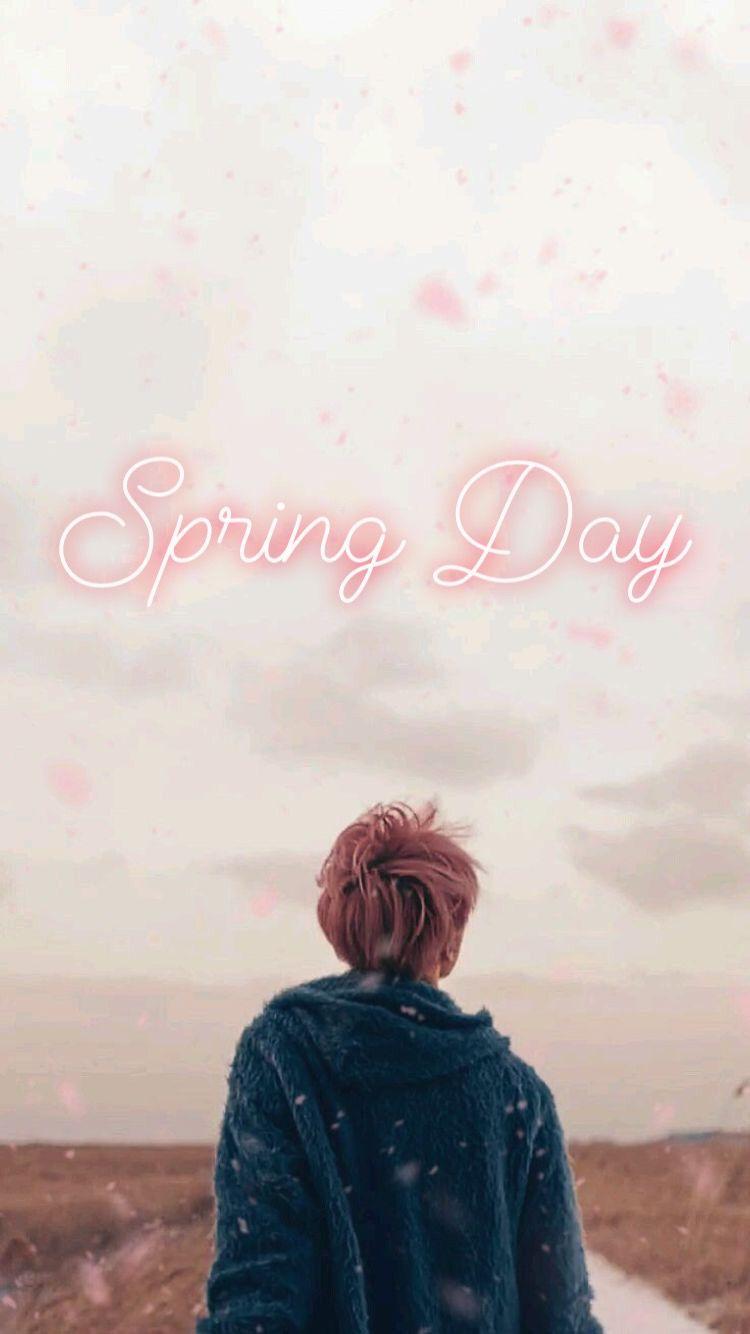 Bts Jimin Spring Day Background Wallpaper Bts Jimin Bts Lyric Bts Qoutes