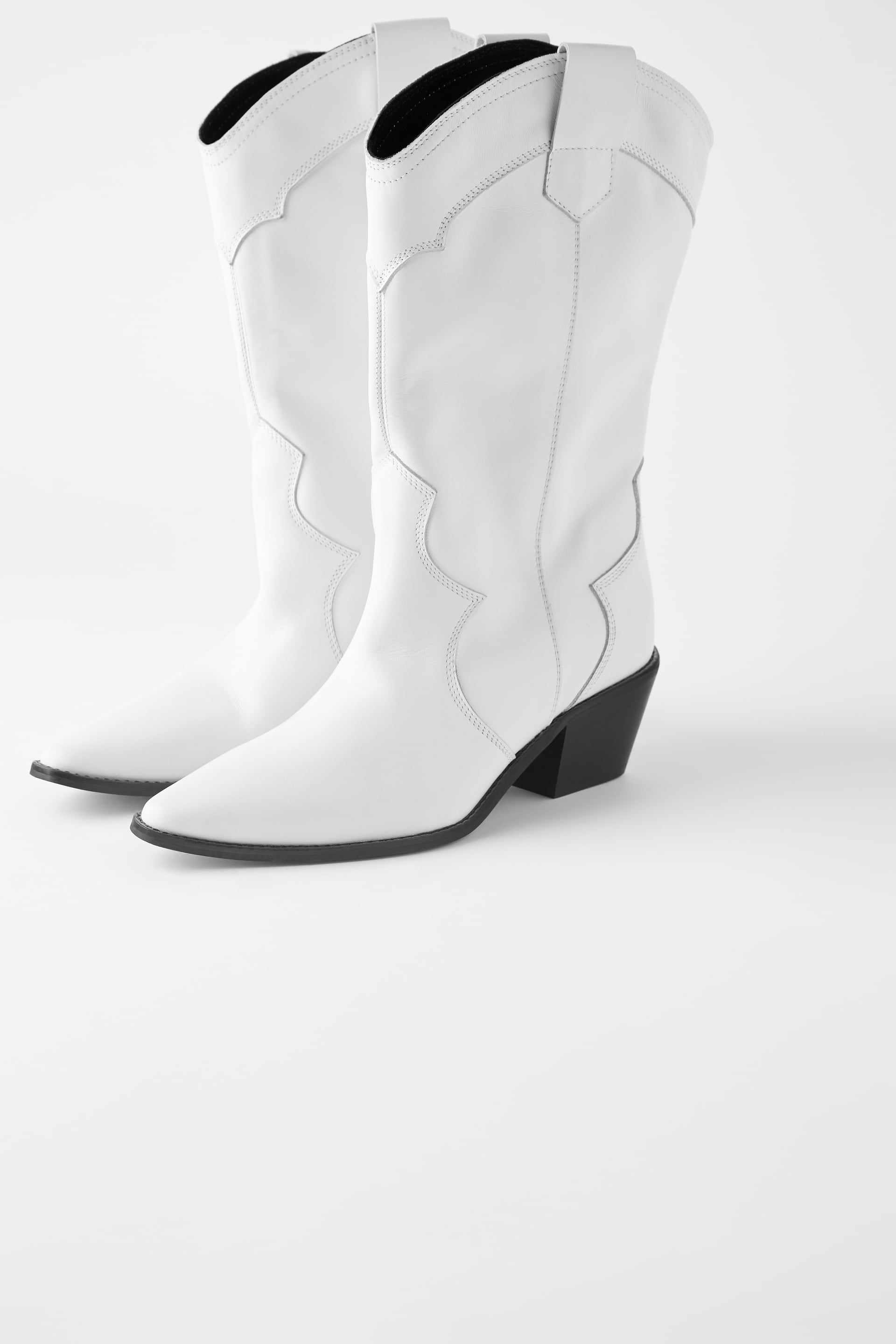 White Cowboy Boots Zara in 2020   Boots