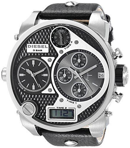 Diesel Men S Dz7125 Black Sba Oversized Analog Digital Black And Silver Dial Diesel Uhren Herren Diesel Uhr Uhren