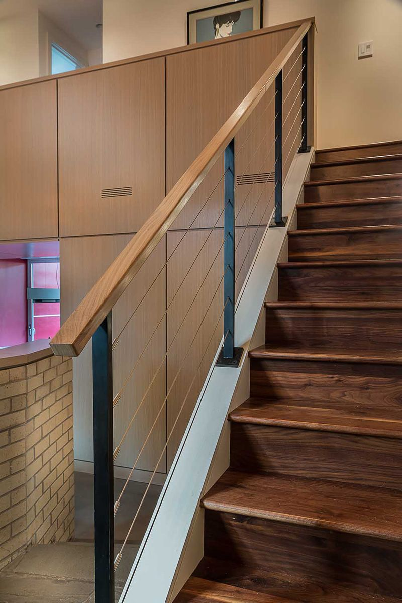 Best Wooden Stairs Lead You Up To The Second Floor Of This Home 400 x 300