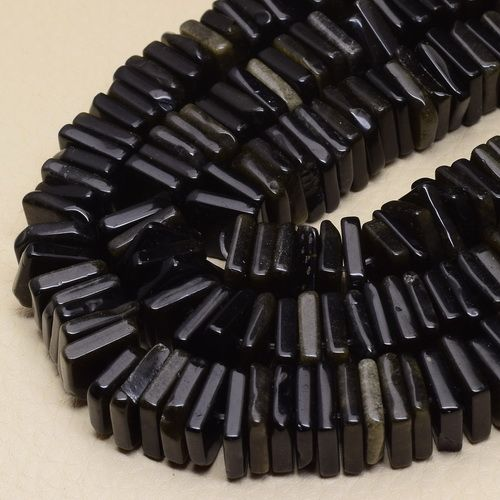 12X12X3MM-NATURAL-GOLD-SHEEN-OBSIDIAN-GEMS-SQUARE-BEADS-STRAND-1-STRAND-15-3-4