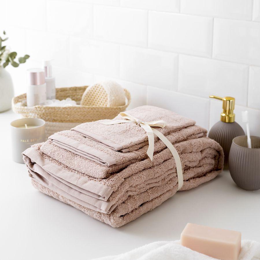 Set toallas Basic rosa | Toallas, Decoracion toallas ...