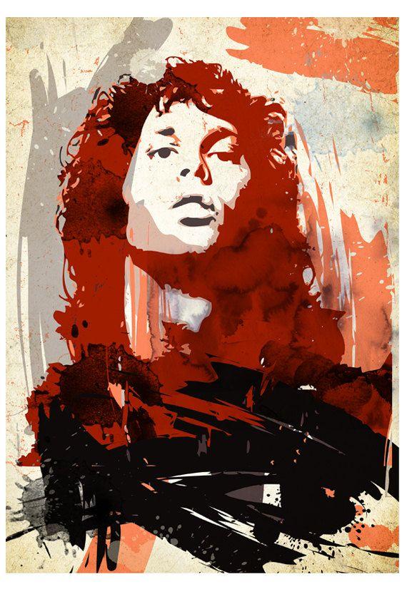 Jim Morrison Pop Art Portrait