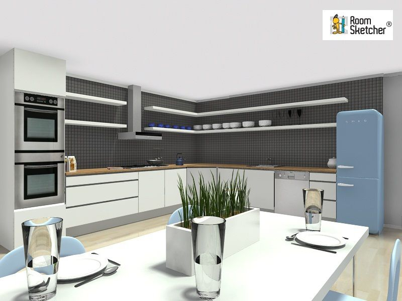 What Kind Of Kitchen Is Ideal For You Try An Open Kitchen In Roomsketcher Home Designer And See If It S For You Best Interior Design Design Open Space Living