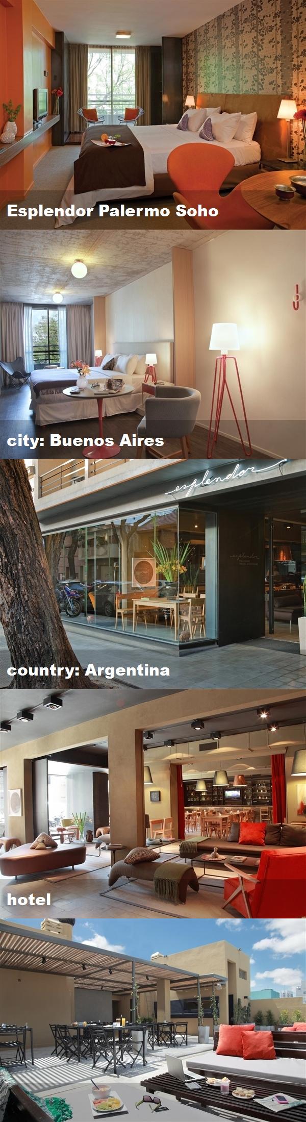 Esplendor Palermo Soho, city: Buenos Aires, country ...