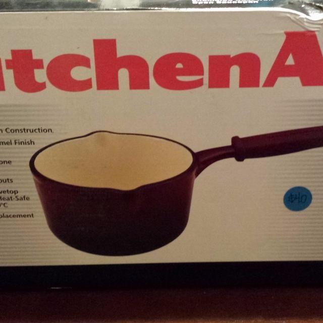 KitchenAid 1 Qt Enameled Cast Iron Saucepan
