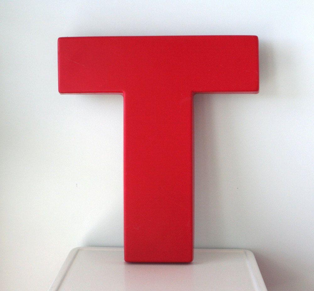 Big, Red, Large Plastic Letter T 28 Plastic letters