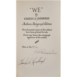 LINDBERGH, Charles A. - WE. Signed Limited Edition, Lindbergh, Ryan, Timm & Gurney