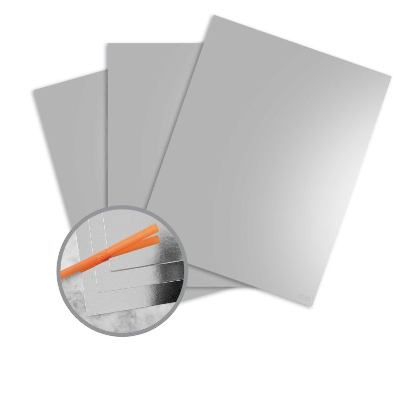 Jazz Mirror Finish Silver Foil Paper 12 X 12 In 10 Pt Cover 25 Per