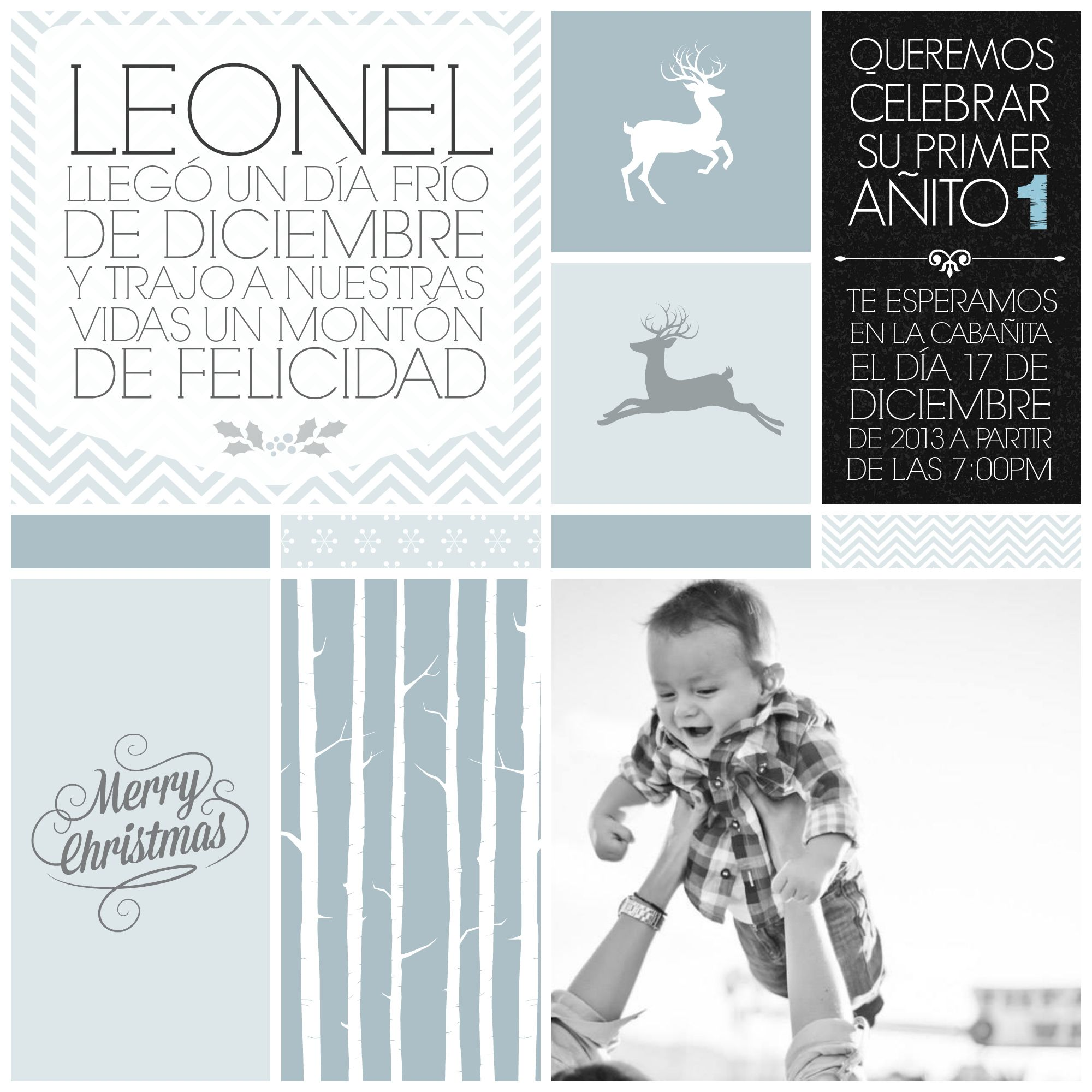 INVITATION WINTER WONDERLAND ONE YEAR INVITACION DE UN AÑO BABY ...