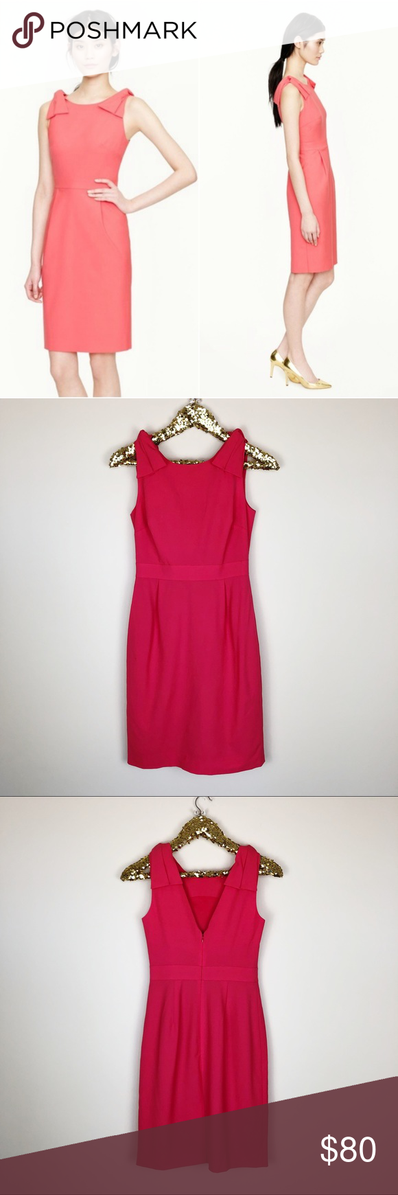 Photo of J.Crew Origami bow dress in stretch wool New without tags  00 , Dress is a light…