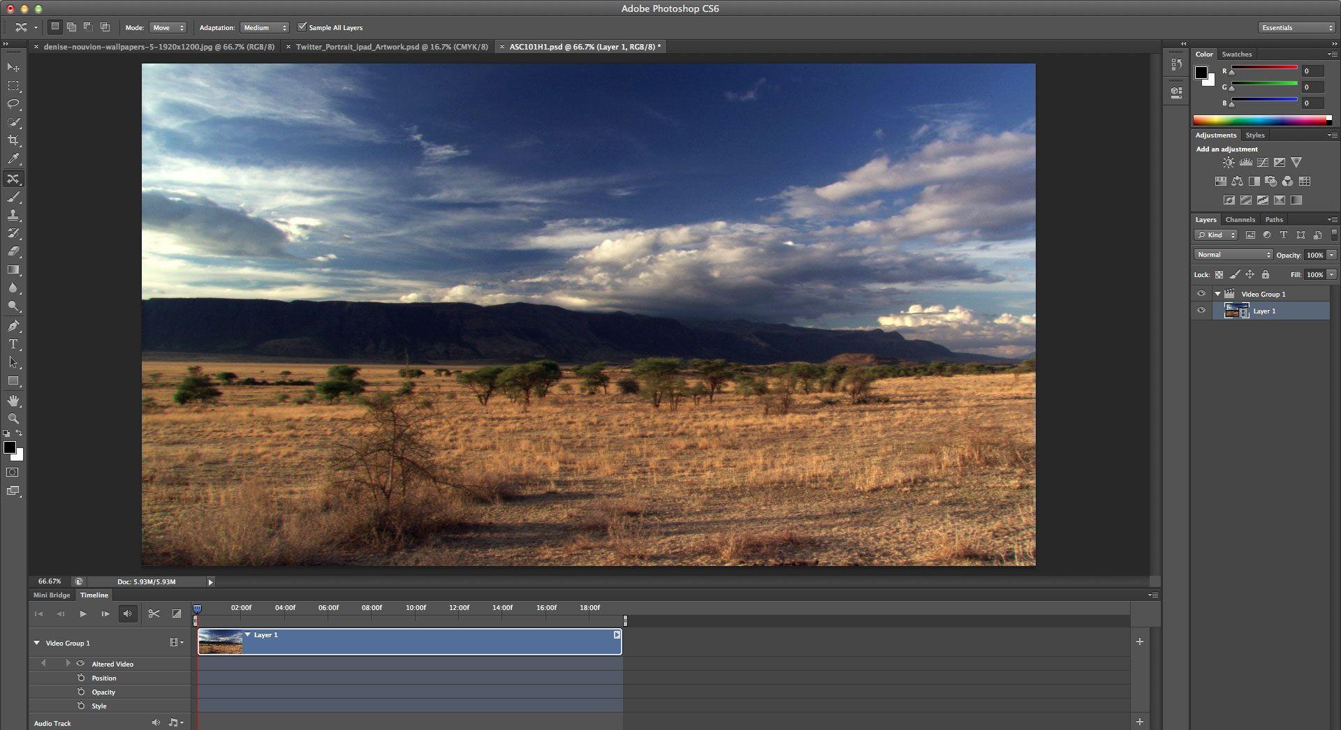 adobe photoshop cs6 video editing