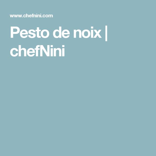 Pesto de noix | chefNini