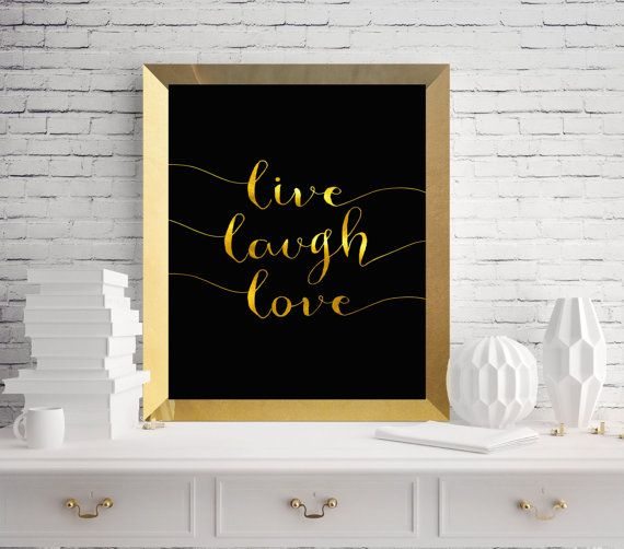 $5 Live laugh love quote printable / beautiful by SoulPrintables