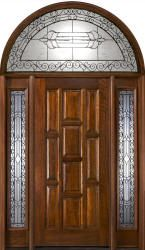 Exterior Doors With Half Round Transoms Arched Transoms Exterior Doors Mahogany Exterior Doors Wood Exterior Door