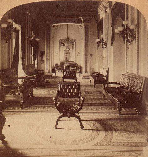 capitol reception room 1870's  victorian interior design