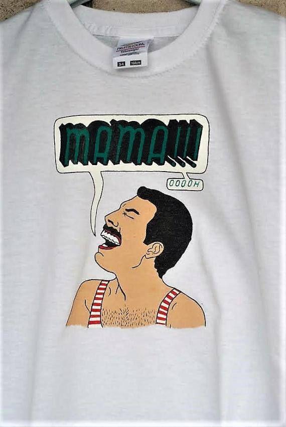 b33c3f01b4b16 Camiseta divertida de Freddie Mercury Freddie t-camisa de la